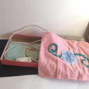 VTG Pink Chenille ELECTRIC Heating Pad